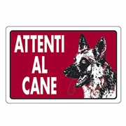 Immagine di CARTELLO ALL ATTENTI AL CANE